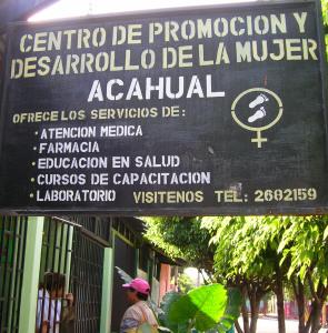 Acahualinca sign