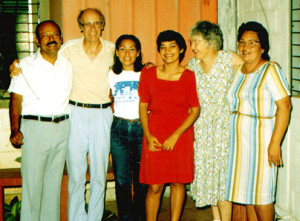 Annette & Ted Donovan in 1986 with their host family in Nicaragua