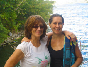 Bette Rainbow Hoover with Jenny Atlee who worked with ProNica in Nicaragua during the 1980s and 1990s