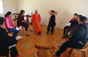 Bette leading a healing circle in Honduras