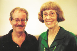 Doug McCown with former ProNica clerk, Ruth Hyde Paine in 2006