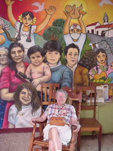 "Margaret ""Peg"" Rigg in Matagalpa, Nicaragua visiting the Casa Materna Mary Ann Jackman in 2010"