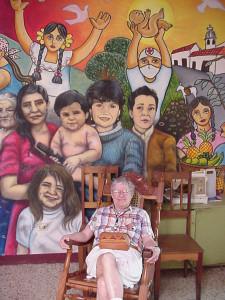 "Margaret ""Peg"" Rigg in Matagalpa, Nicaragua visiting the Casa Materna Mary Ann Jackman in 2010"