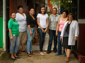 Noema (third from right) with the rest of the Acahualt staff