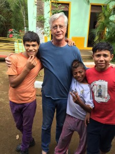 ProNica Board President, Herb, with residents of Los Quinchos. Herb flies to Nicaragua each year to listen to the partners and learn about their needs, as well as to visit his treasured friends