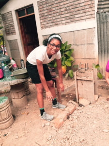 Work project at Casa del Niño to level the ground for a new music pavilion