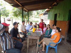Melissa in Rio Blanco visiting the Martin Centeno Community