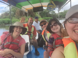 TCNJ Professor Mary Lynn Hopps and ProNica guide Ramon Sepulveda share the beauty of Nicaragua with the students